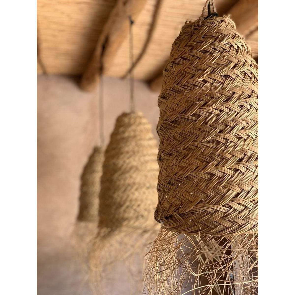 Berber seagrass lamp shade