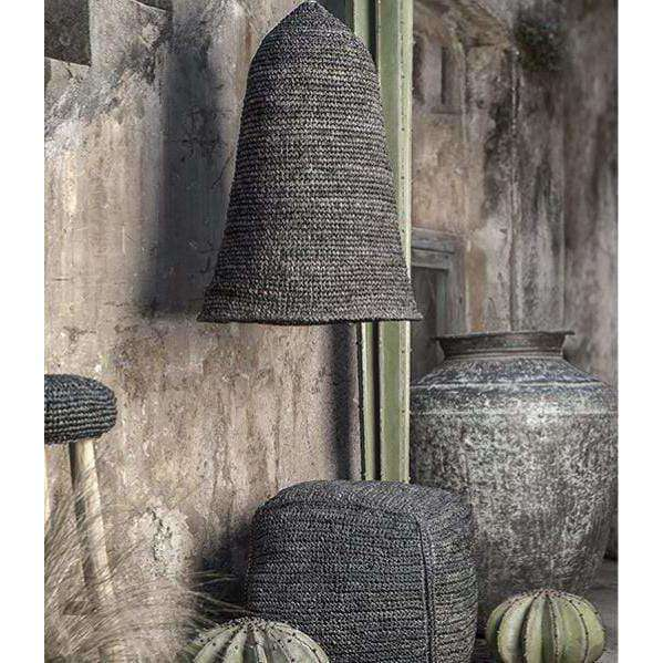Hut Raffia Lamp Shade | Black - Zoco Home