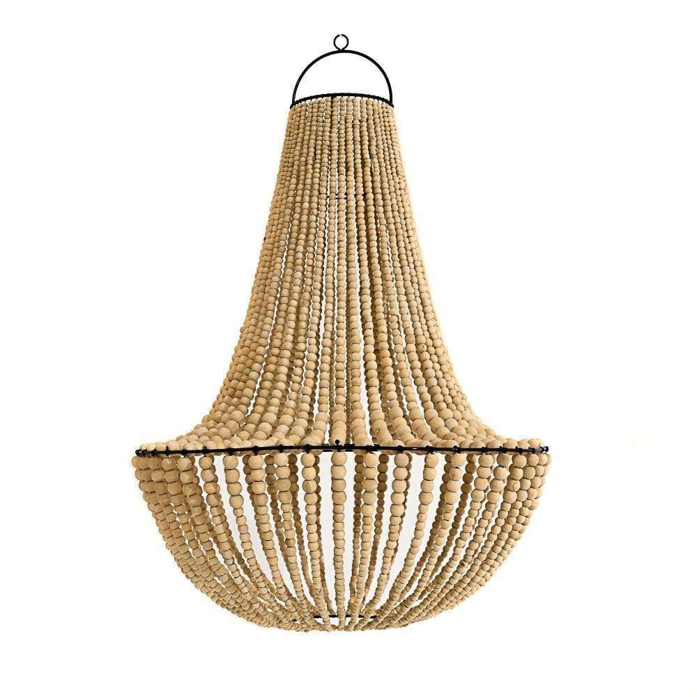 Wooden bead lamp shade | 100cm | Natural