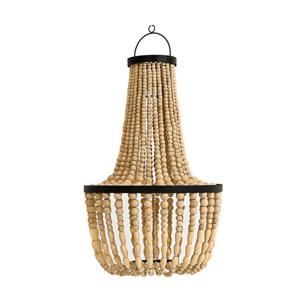 Wooden bead lamp shade | 70cm | Natural