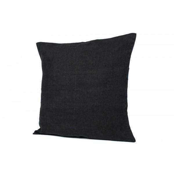 Linen Pillow | Black | 80cm