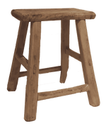 Vintage Elm wood stool - Zoco Home