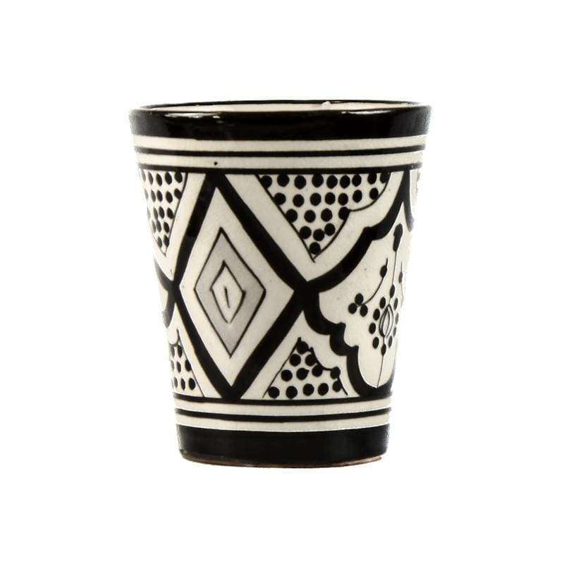 Mug, black-and-white 10cm - Zoco Home