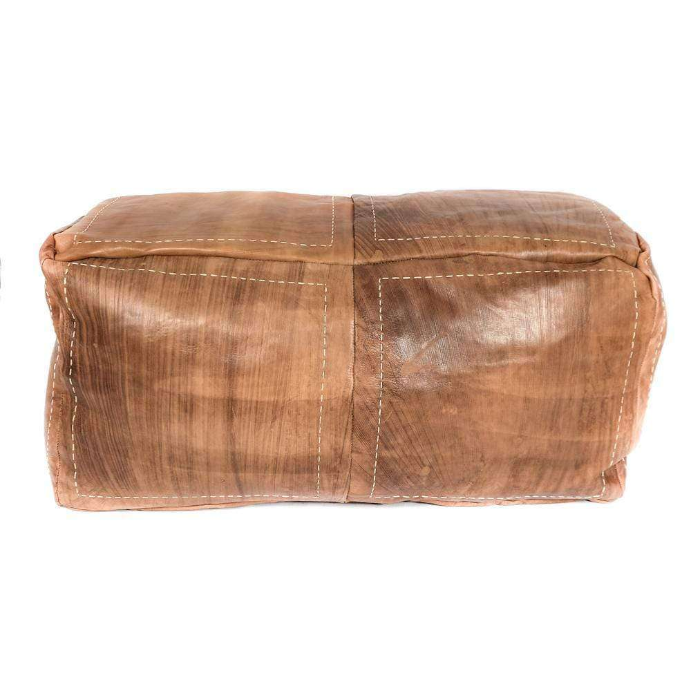 Rectangle Pouf | Cognac