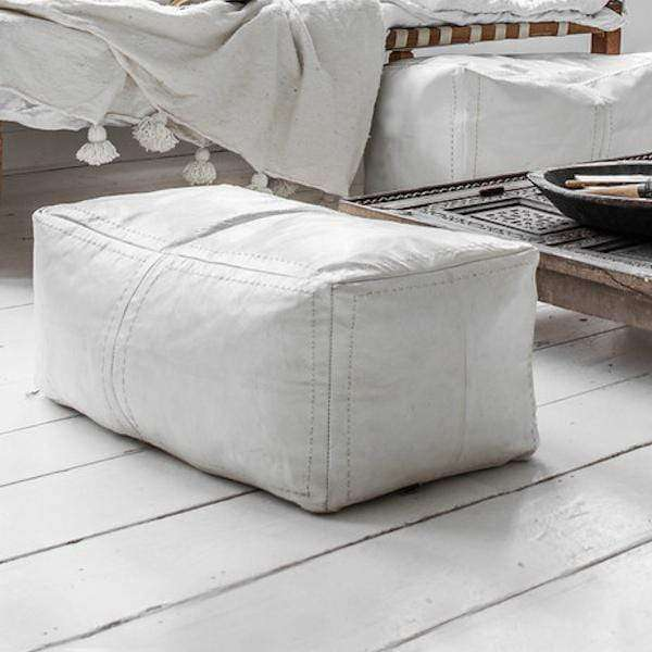 Rectangle Pouf | White