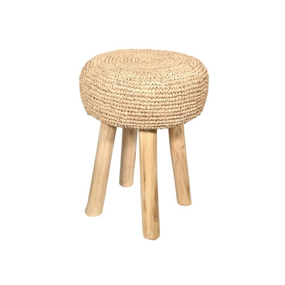 Raffia Stool | Natural