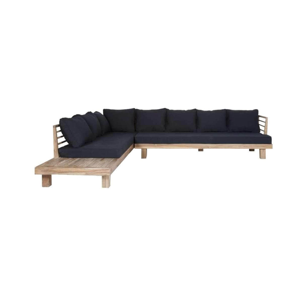 Amaya L Shape Sofa | Black