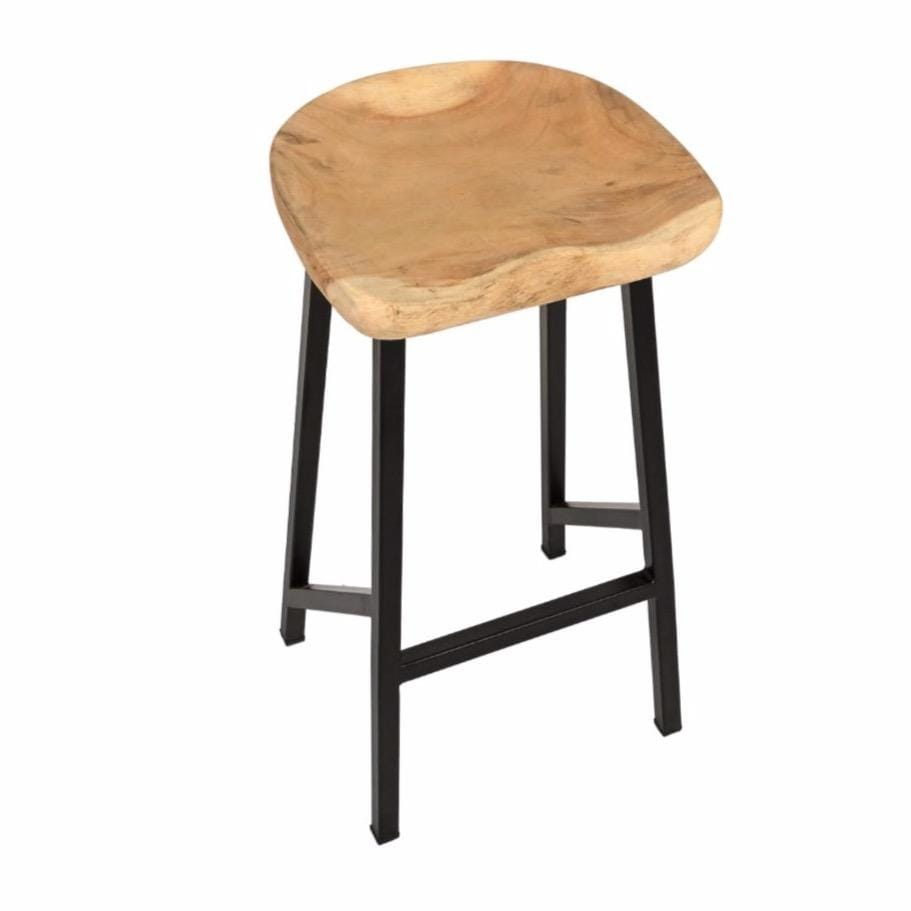 Bar Stool with Iron Legs
