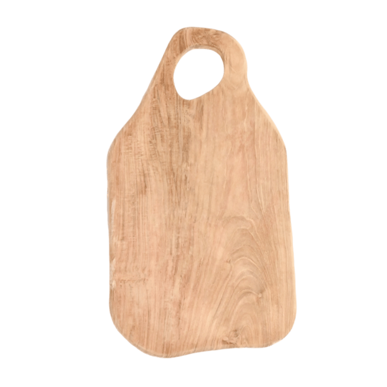 Teak Cutting Board - Abstract  | 40cm