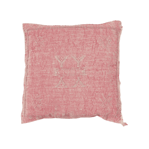 Cactus Silk Pillow Cover | Pink | 50x50cm