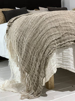 Zoco Home Textiles Linen throw | Natural 170x130cm