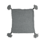 PomPom Cushion Cover | Light Grey 50cm