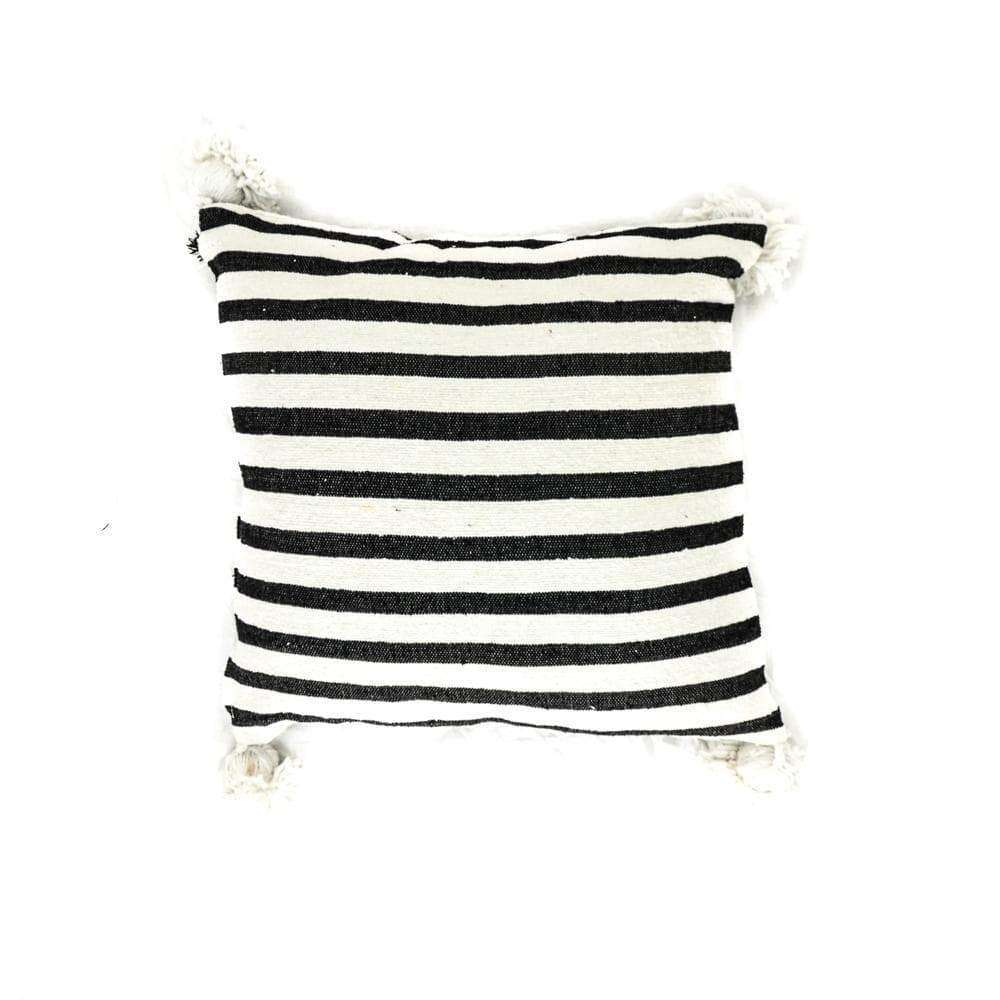 PomPom Cushion Cover | Black & White | 50x50cm
