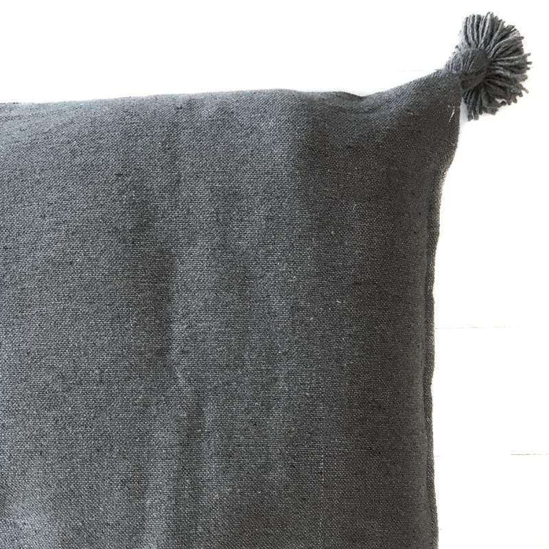 PomPom Cushion Cover | Grey 50cm - Zoco Home