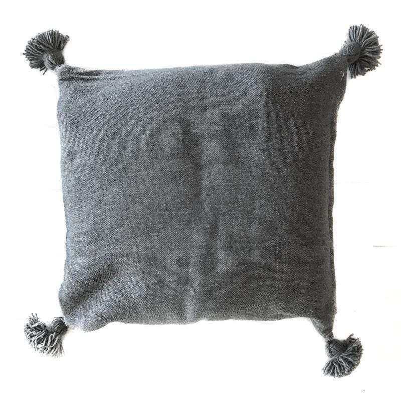 PomPom Cushion Cover | Grey | 60x60cm