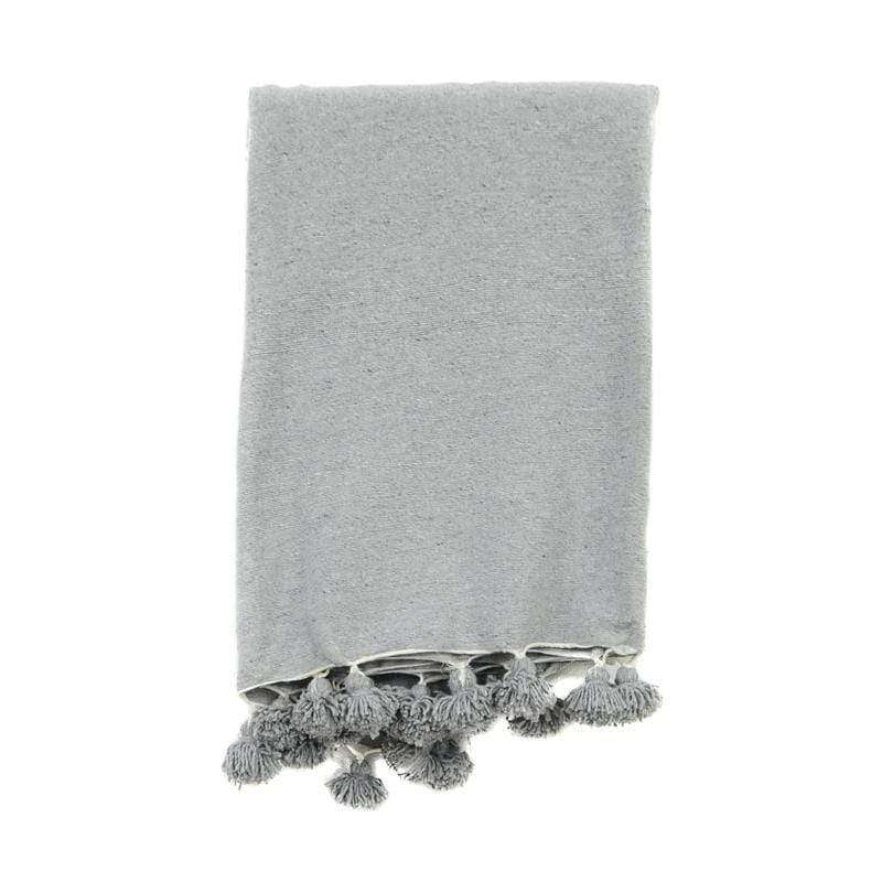 PomPom blanket | Light Grey