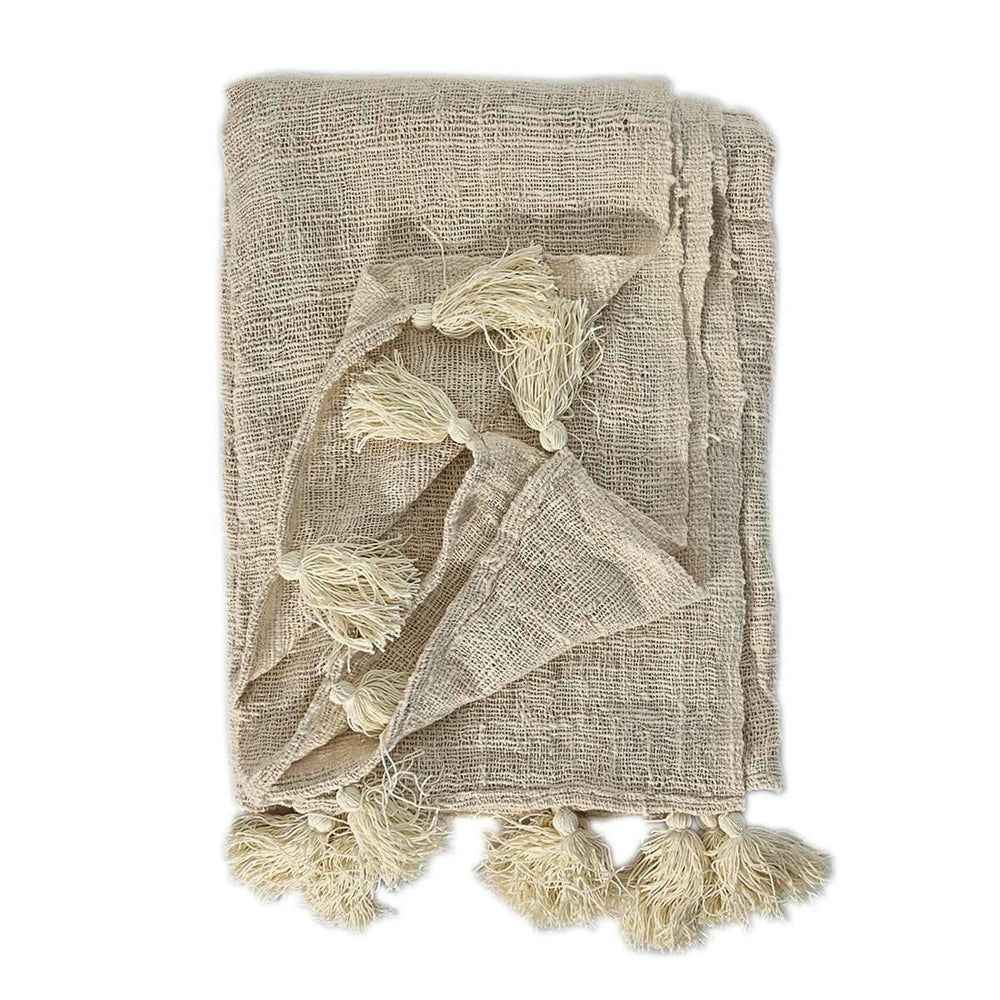 Bali tassel throw 210x130cm
