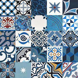 Patchwork Cement Tile | Blue