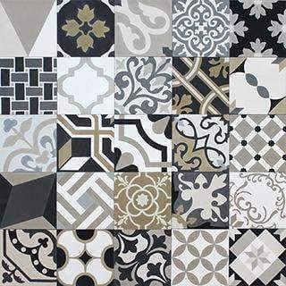 Patchwork Cement Tile | Grey & Beige - Zoco Home