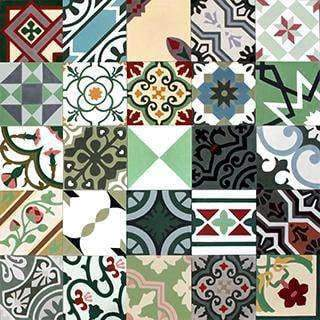 Patchwork Cement Tile | Green - Zoco Home