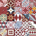 Patchwork Cement Tile | Red