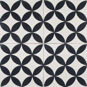 Cement Tile | Casablanca | Black - Zoco Home