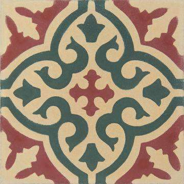 Cement Tile | Marrakech | Red - Zoco Home
