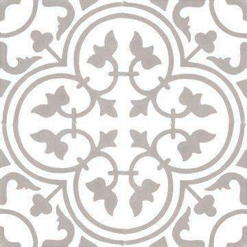 Cement Tile | Musk | White & Grey