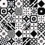 Cement Tile | Patchwork | Black