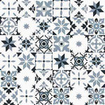 Cement Tile | Patchwork | Black & Grey