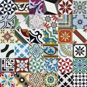 Cement Tile | Patchwork | Multicolored