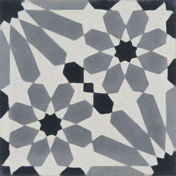 Cement Tile | Samira | Black & Grey