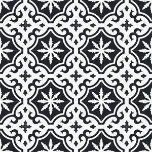 Cement Tile | Zahara | Black