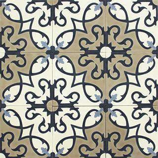 Patterned Cement Tile | 20637