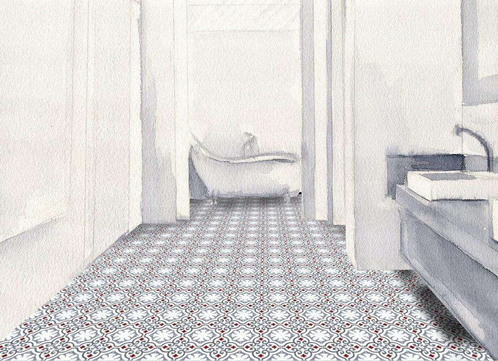 Patterned Cement Tile | 21344 - Zoco Home