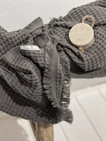 Zoco Home Textiles Waffle Towels Dark Grey + Soap