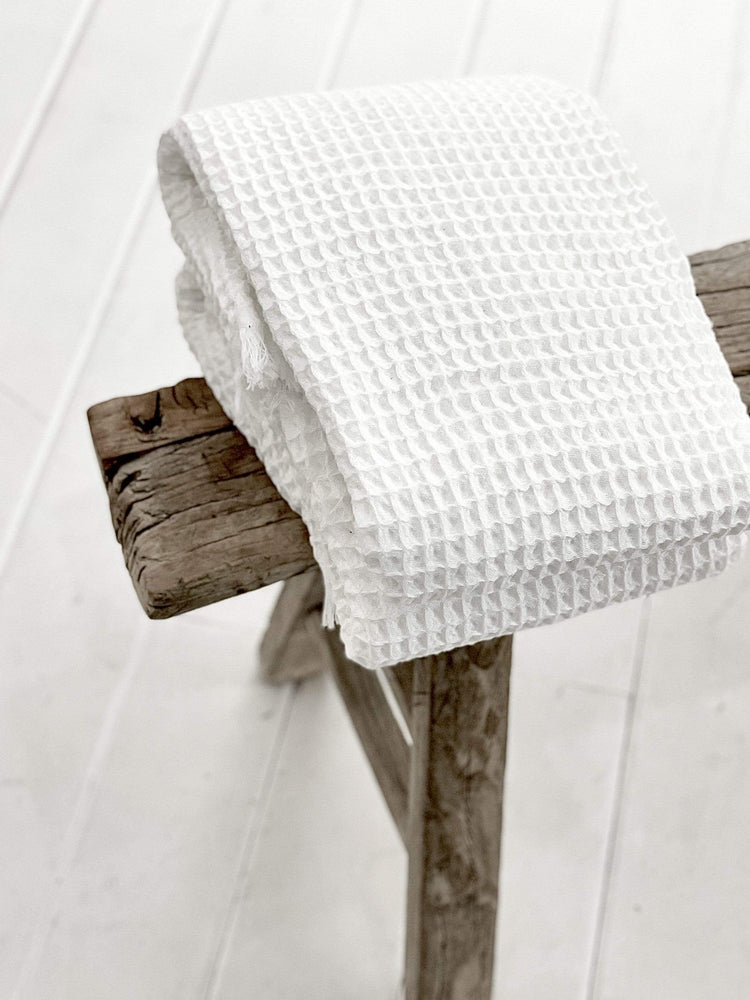 Zoco Home Textiles Waffle Towels White + Soap