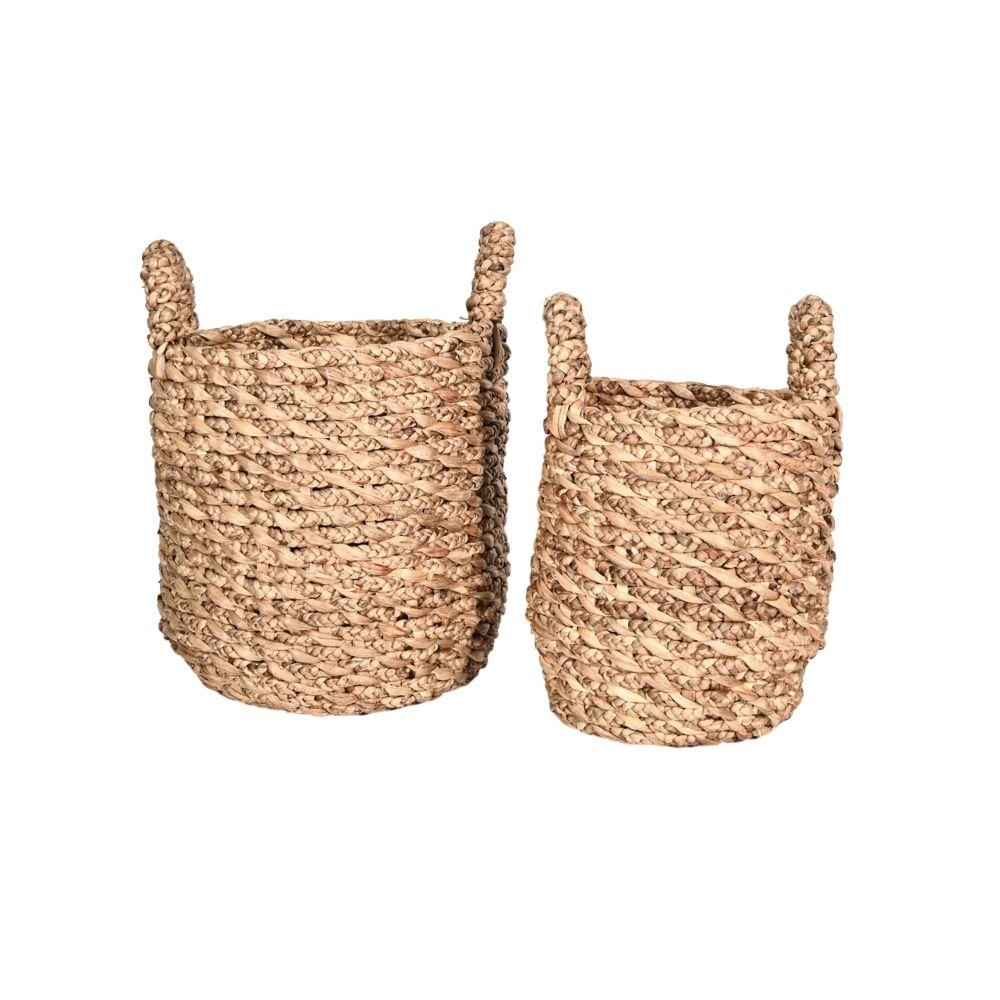 Zoco Home Home accessories Water Hyacinth Basket | Set of 2
