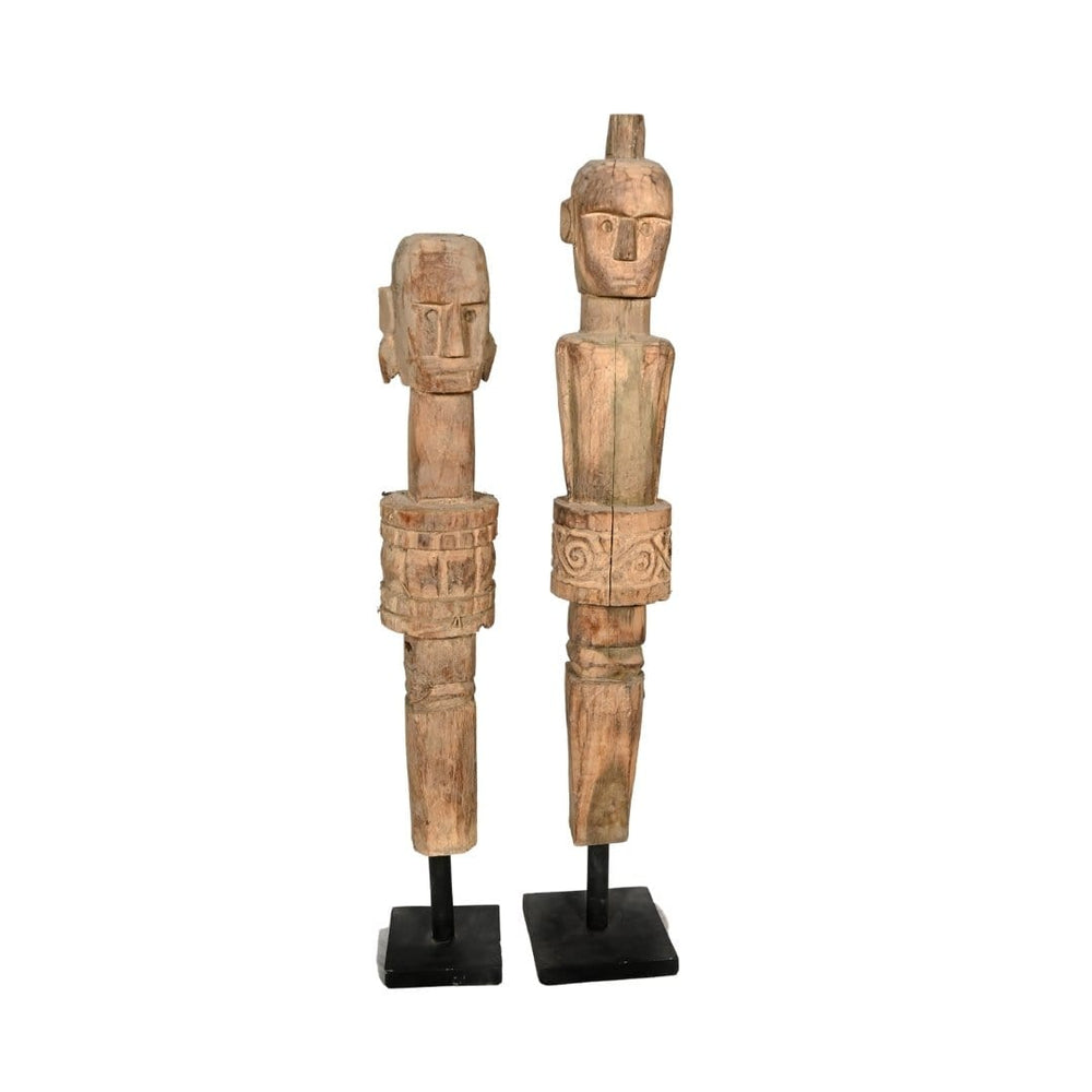 Zoco Home Wooden Sumba Statue | Natural 70cm