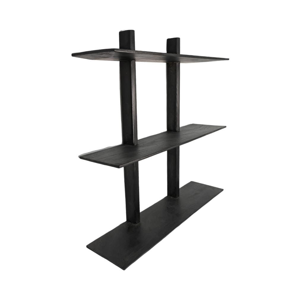 Zoco Home Furniture Wooden Wall Shelves | Black 100x90cm