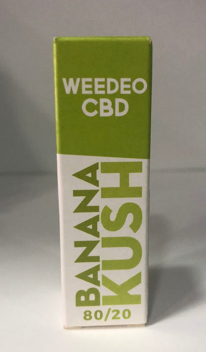 BANANA KUSH WEEDEO CBD 30mg 100mg 300mg (10ml ) - HEMPOINT CBD