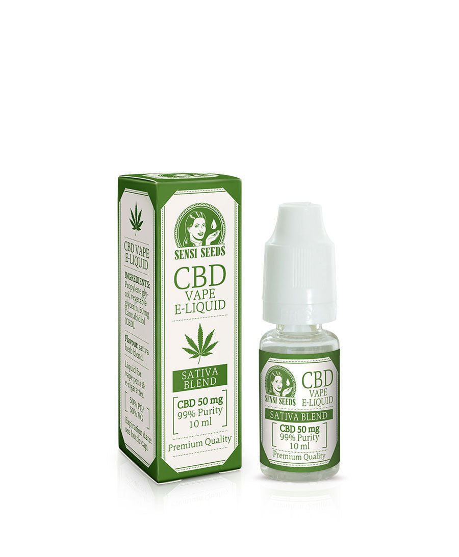 Sensi Seeds VAPE E-LIQUID CBD 50mg 10ml - HEMPOINT CBD