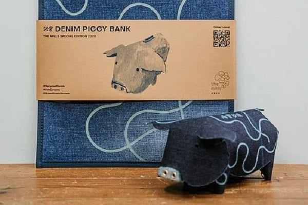 Denim Piggy Bank