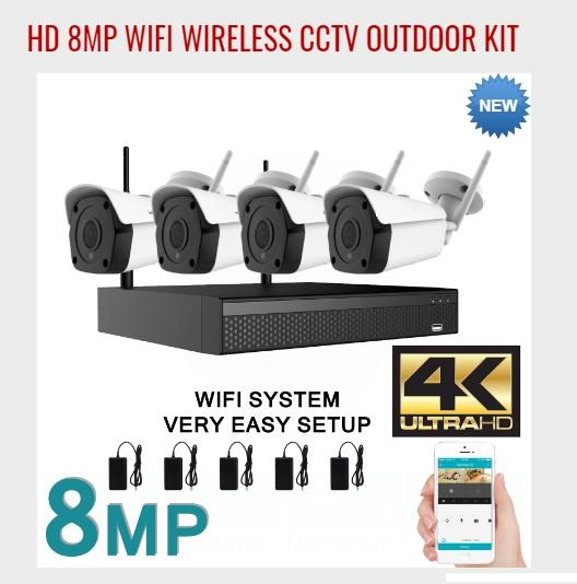 DIY Wireless 4K HD Kit with 4 x 8MP HD Bullet Cameras (NO HDD) - MOMENTUM Tech Solutions