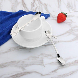 Funny Cat Shape Stainless Steel Coffee or Elegant Ice Cream Spoon - MOMENTUM Tech Solutions