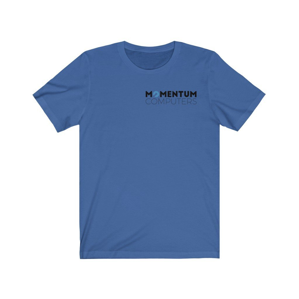 Momentum + Computers = Short-Sleeve Unisex T-Shirt Opy - MOMENTUM Tech Solutions
