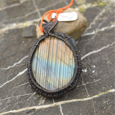 Wire Wrapped Pendant - jewelry - jewelry labradorite pendant wire - Stuff N Things