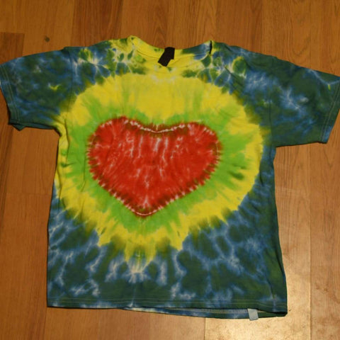 Youth Medium Tie-Dye T-Shirt - clothing - anvil medium random tshirt youth - STUFF N THINGS