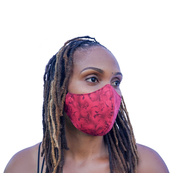One Love Mask - Crimson Petals
