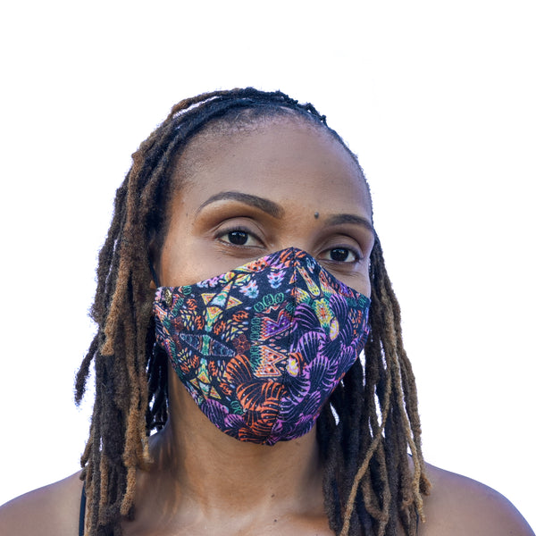 Signature Mask -  Africana Abstract